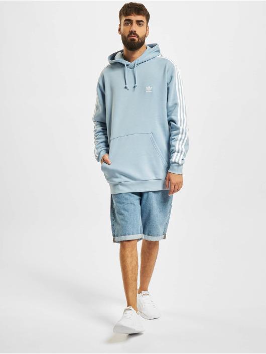 adidas Originals Bluzy z kapturem Originals 3-Stripes niebieski