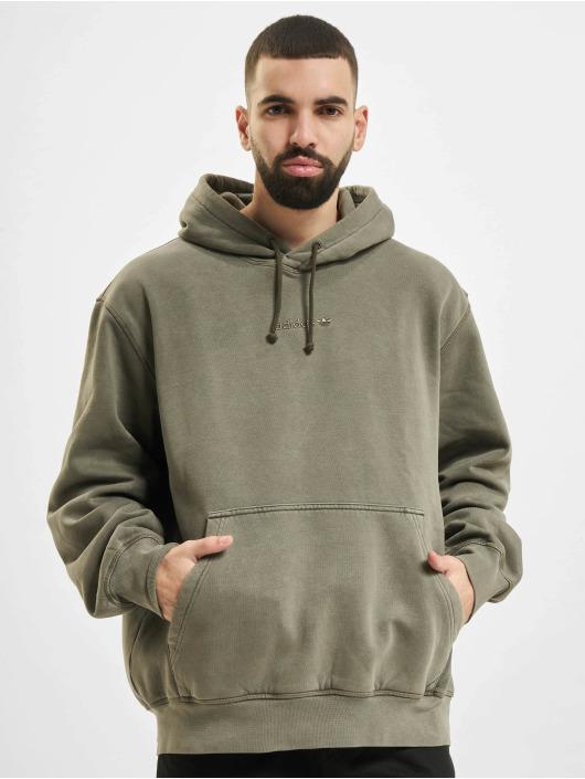 adidas Originals Bluzy z kapturem Dyed oliwkowy