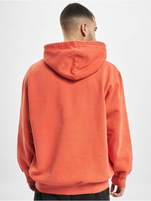 adidas Originals Bluzy z kapturem Dyed pomaranczowy