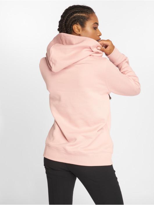 adidas originals Bluzy z kapturem Trefoil rózowy