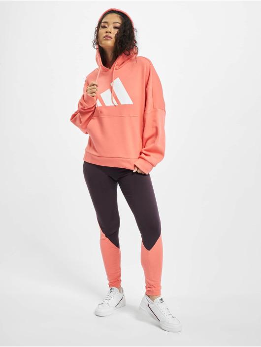 adidas Originals Bluzy z kapturem Ur rózowy