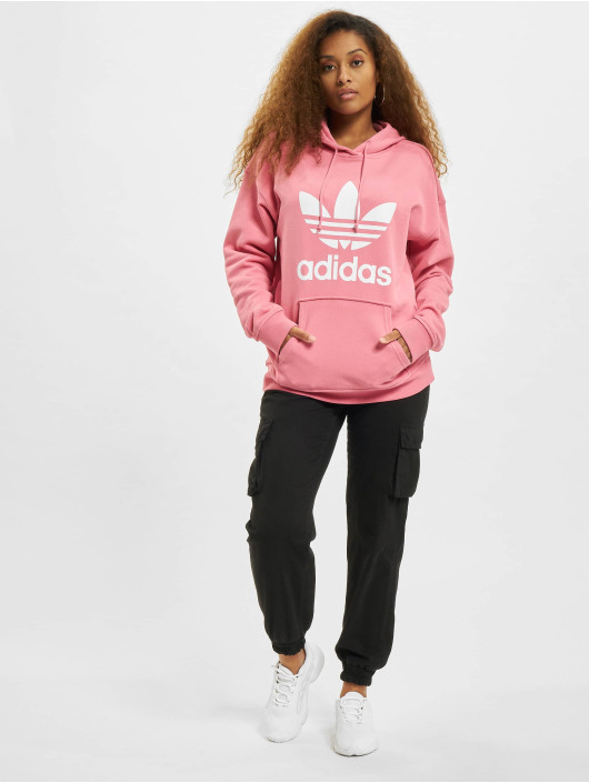 adidas Originals Bluzy z kapturem TRF rózowy