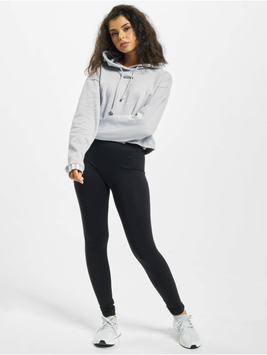 adidas Originals Bluzy z kapturem Cropped szary