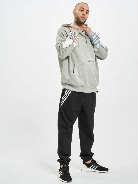 adidas Originals Bluzy z kapturem Tricolor szary