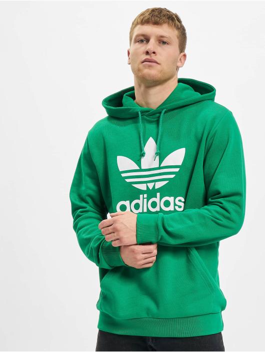 adidas Originals Bluzy z kapturem Trefoil zielony