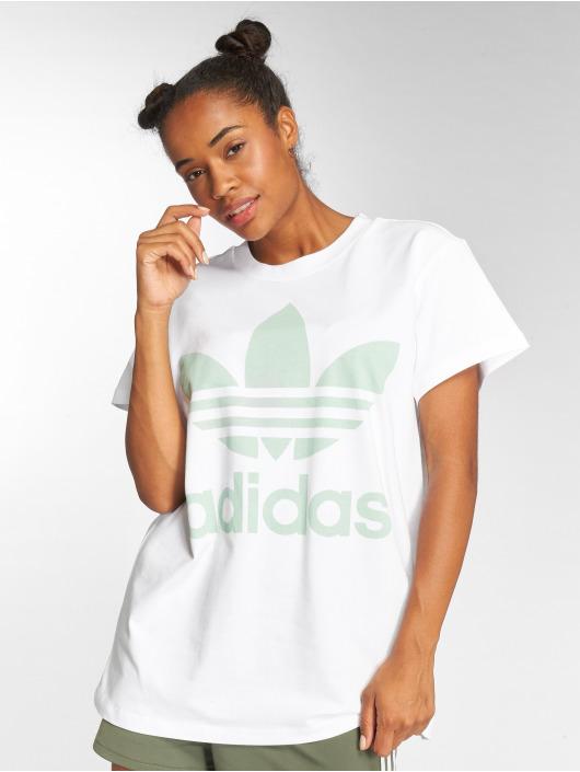 adidas originals Camiseta Big Trefoil blanco