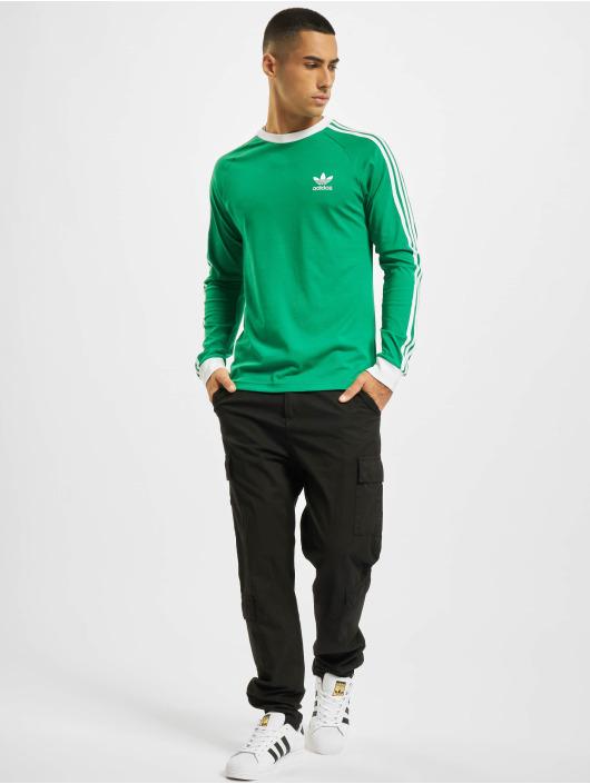 adidas Originals Camiseta de manga larga 3-Stripes LS T verde