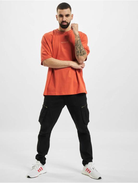 adidas Originals Camiseta Rib Detail naranja