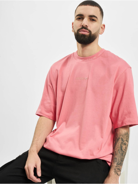 adidas Originals Camiseta Rib Detail rosa