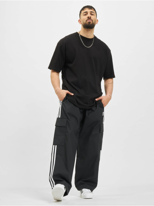 adidas Originals Cargohose 3-Stripes schwarz