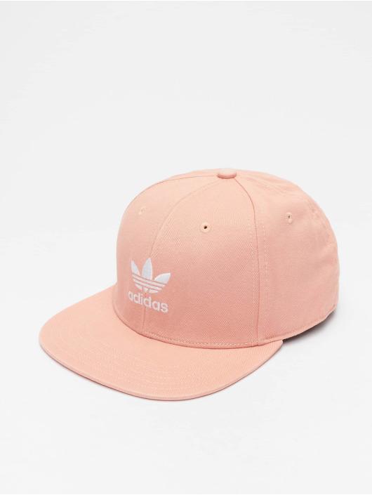 adidas Originals Adicolor Cap Trefoil Flat Snapback Cap Dust PinkWhite