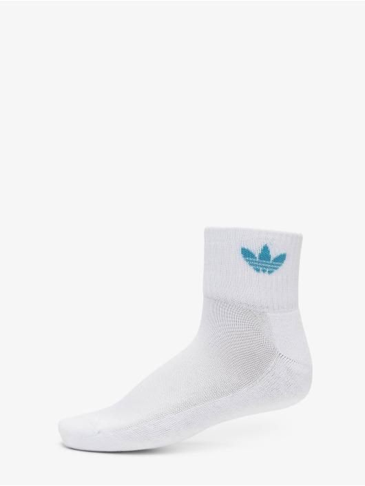 adidas Originals Chaussettes Mid Ankle blanc