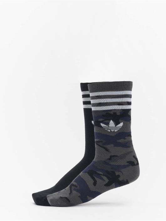 adidas Originals Chaussettes Camo Crew gris
