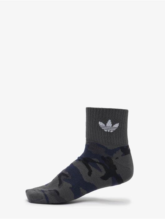 adidas Originals Chaussettes Camo Mid Ankle 2-Pack gris