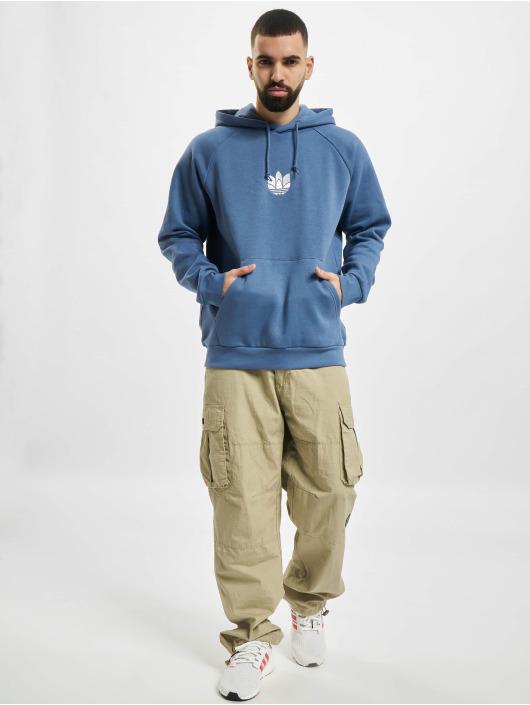 adidas Originals Felpa con cappuccio 3D Trefoil blu
