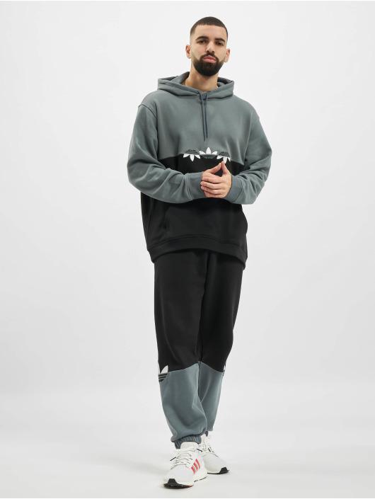 adidas Originals Felpa con cappuccio Slice Trefoil nero