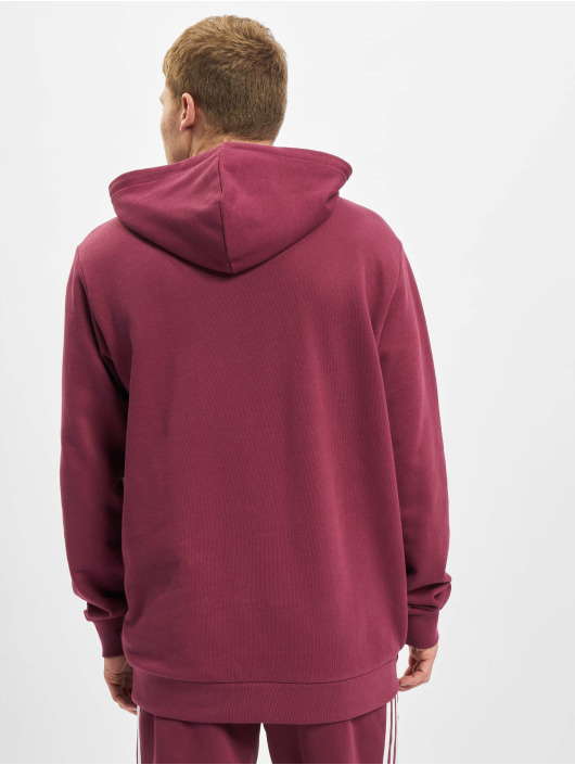 adidas Originals Felpa con cappuccio Trefoil rosso