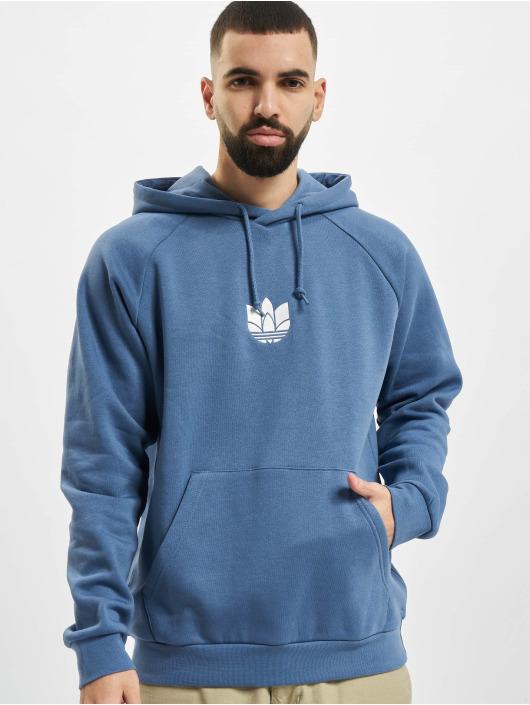 adidas Originals Hoodie 3D Trefoil blå