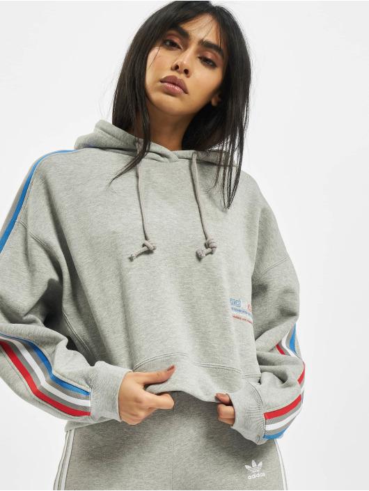 adidas Originals Hoodie Tricolor Trefoil Crop grey