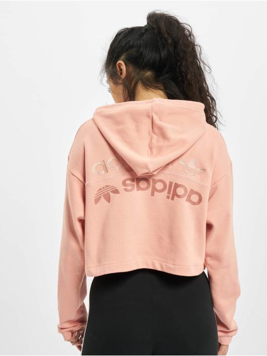 adidas Originals Hoodie Cropped pink
