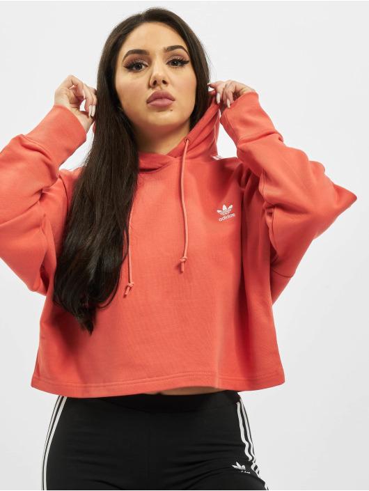 adidas Originals Hoodie Cropped red