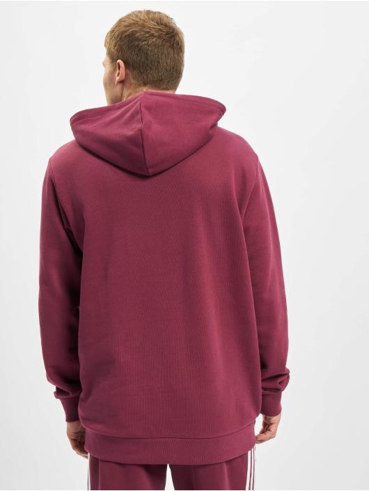 adidas Originals Hoodie Trefoil röd