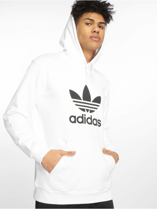 adidas Originals Hoodie Trefoil white