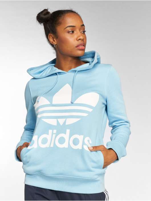 adidas originals Hoodies Trefoil blå