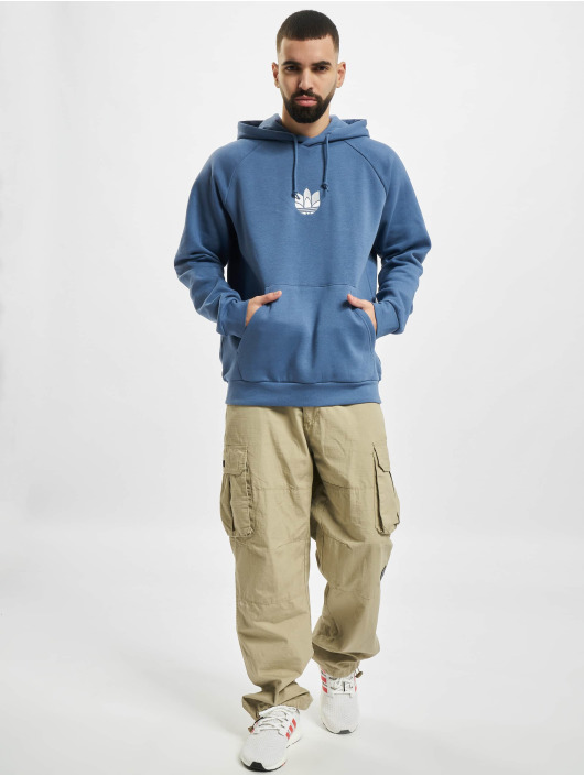 adidas Originals Hoodies 3D Trefoil blå