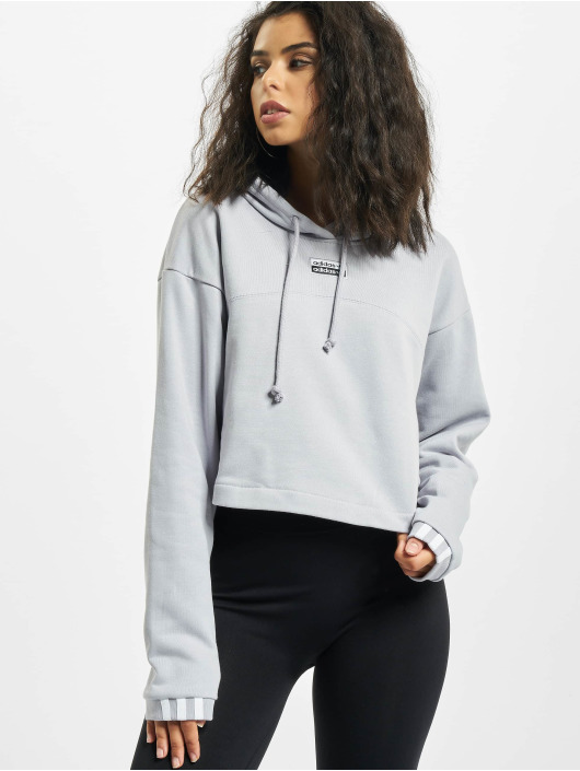 adidas Originals Hoody Cropped grau