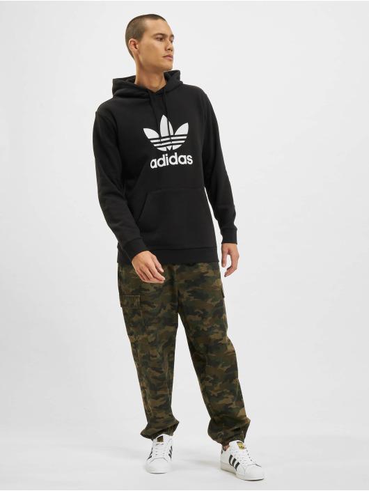 adidas originals herren hoody trefoil hoodie in schwarz 500355. Black Bedroom Furniture Sets. Home Design Ideas