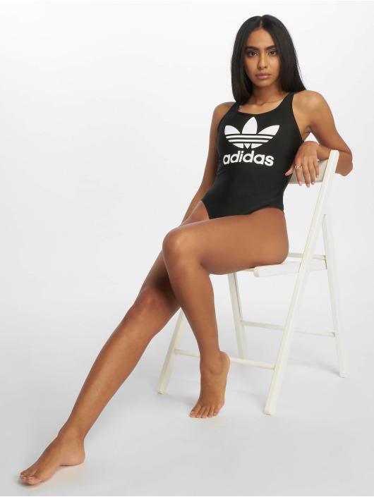 adidas originals Jednodílné plavky Trefoil čern