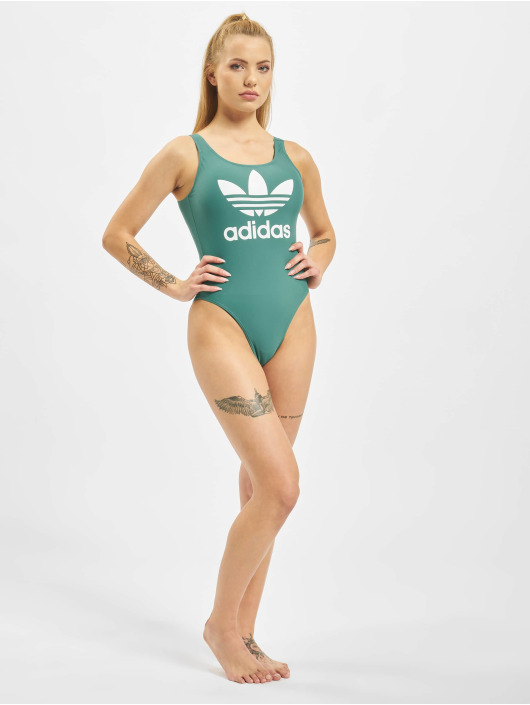 adidas Originals Jednodílné plavky Trefoil zelený