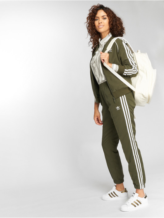 adidas originals joggingbroek Regular Tp Cuf olijfgroen