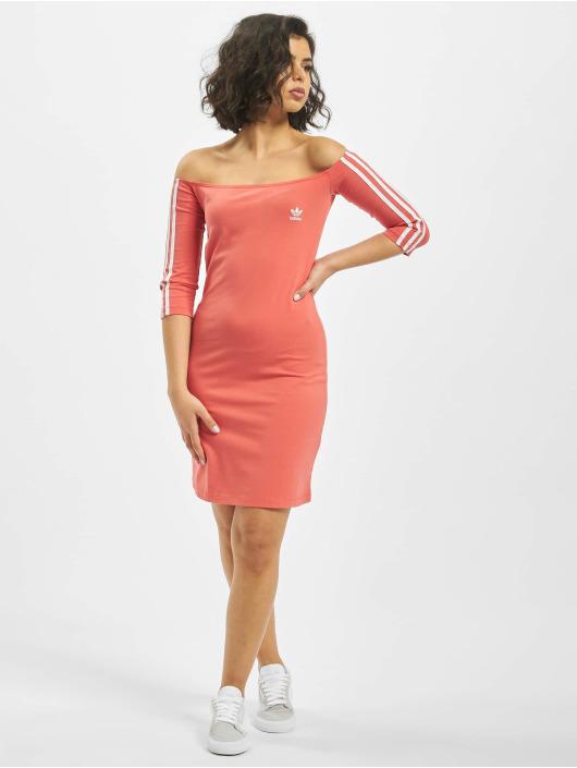 adidas Originals jurk Shoulder rood