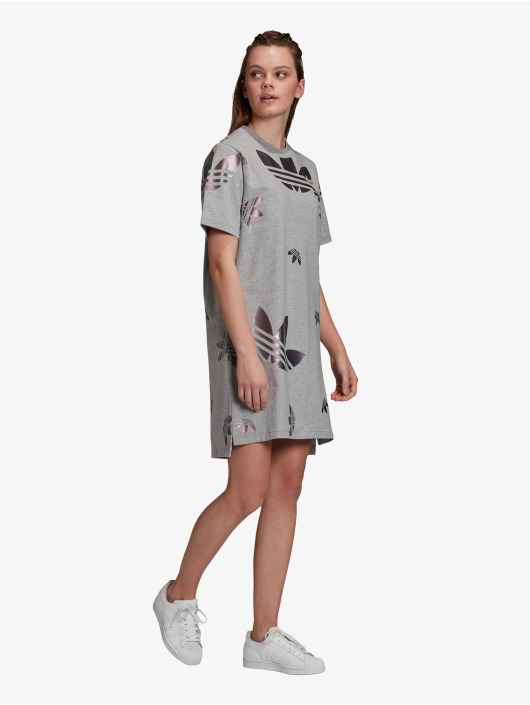 Adidas Originals Damen Kleid Lrg Logo In Grau 739758