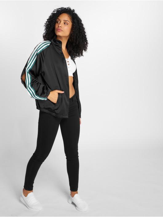 adidas originals Kurtki przejściowe Track Top Satin czarny