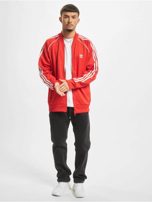 adidas Originals Kurtki przejściowe SST TT P czerwony