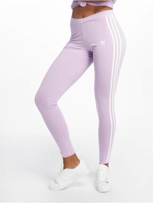Adidas Originals 3 Stripes Leggings Purple Glow