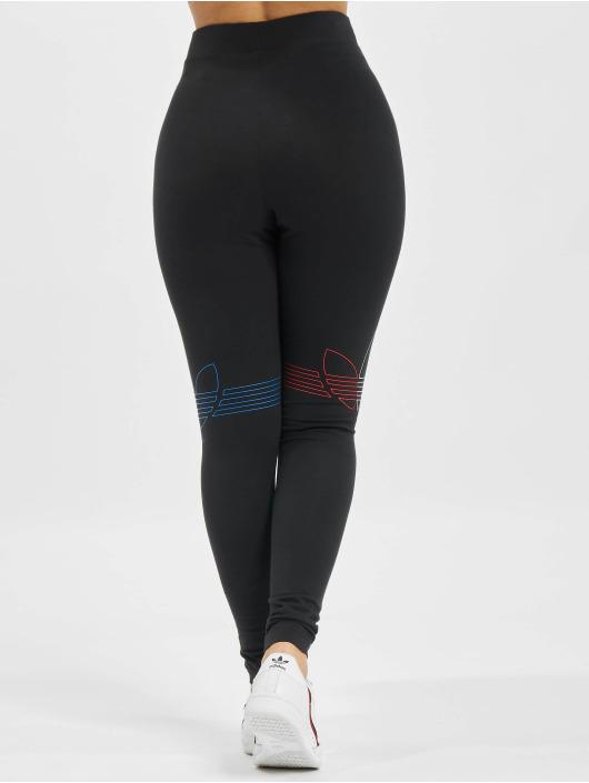 adidas Originals Leggings/Treggings Tricolor czarny