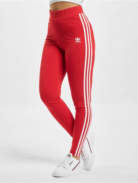 adidas Originals Leggings/Treggings 3 Stripes czerwony