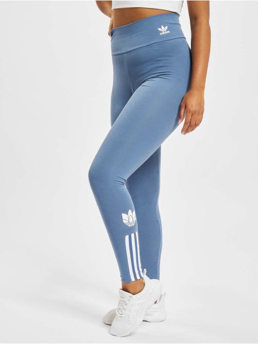 adidas Originals Leggings/Treggings HW niebieski