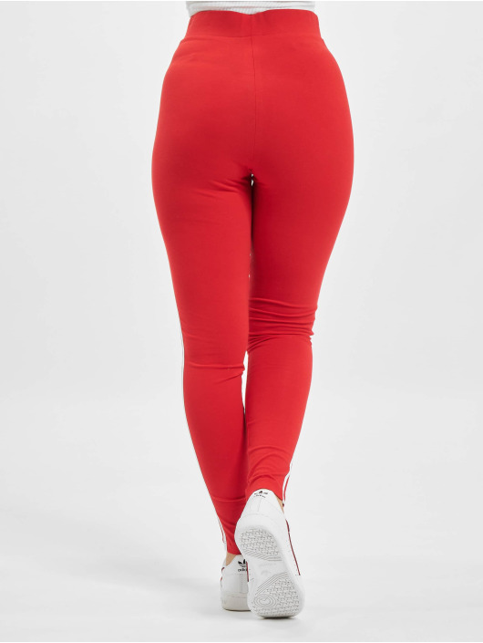 adidas Originals Leggings/Treggings 3 Stripes red
