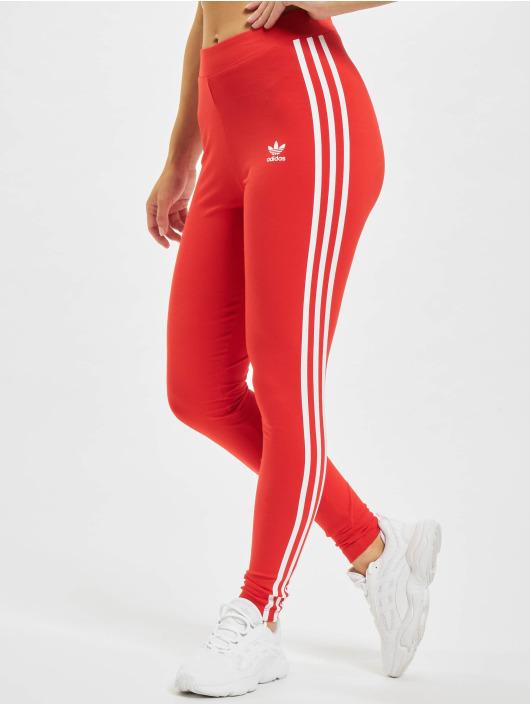 adidas Originals Leginy/Tregginy Originals 3 Stripes červený