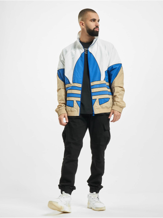 adidas Originals Lightweight Jacket Big Trefoil Outline Woven white
