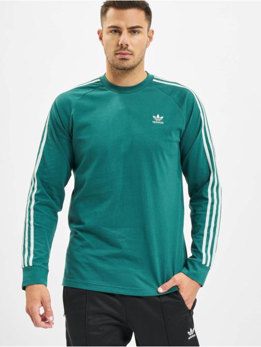 adidas 3 stripes longsleeve groen