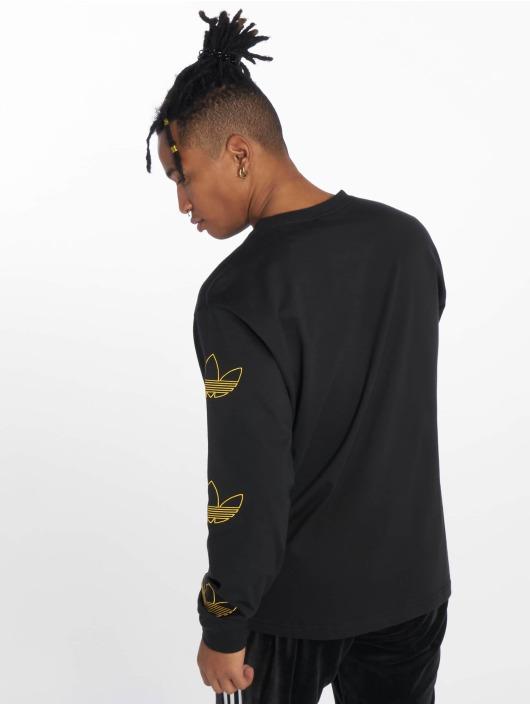 adidas originals Longsleeve Trefoil schwarz