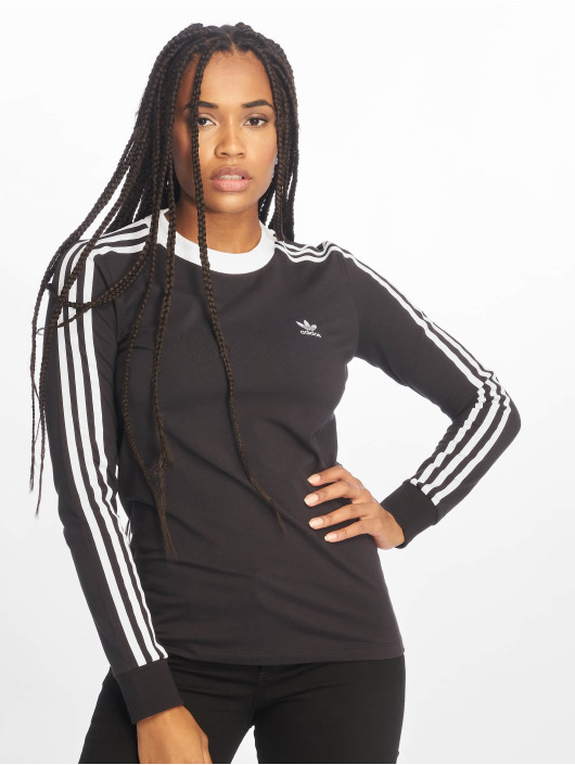 adidas originals Longsleeve Originals 3 Stripes schwarz