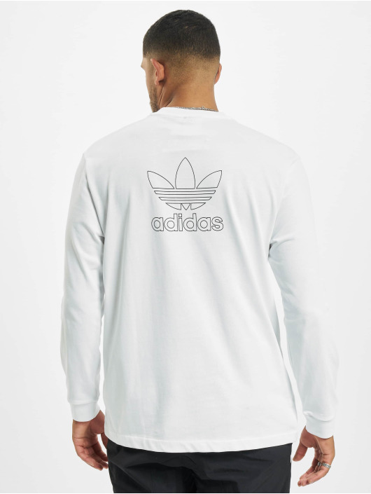 adidas Originals Longsleeve Back And Front Print Trefoill white
