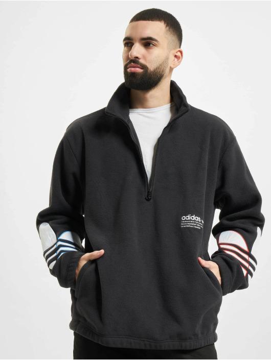 adidas Originals Maglia Tricolor Half Zip nero